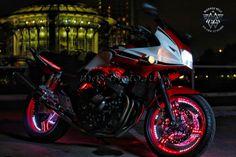 Honda CB с подсветкой дисков