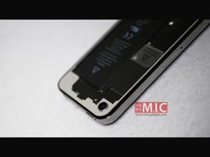 Transparent Glass Back Panel for iPhone 4