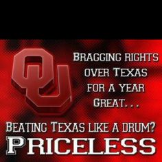 Cannot wait for this seasons Red River Rivalry...
