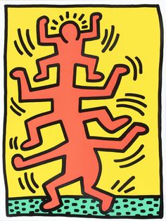 Bid now on Growing: one print by Keith Haring. View a wide Variety of artworks by Keith Haring, now available for sale on artnet Auctions. Keith Haring Prints, Keith Haring Poster, Keith Haring Art, The Velvet Underground, Photowall Ideas, Oil Pastel Art, Oil Pastels, Contemporary Art Prints, Principles Of Art