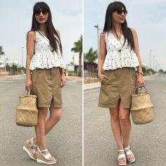"""SAFARI & DOTS - Temporada: Primavera-Verano - Tags: look, ootd, fashion, moda, summer - Descripción: -10% en las sandalias con el código """"STARDIVARIUS10"""" #FashionOlé"""