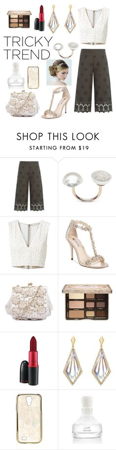 """Pearlized"" by dbellz ❤ liked on Polyvore featuring Diane Von Furstenberg, Alice + Olivia, INC International Concepts, Too Faced Cosmetics, MAC Cosmetics, She Adorns, Rafé New York, Oribe, TrickyTrend and culottes"