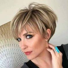 Moda anti-idade - corte de cabelo curto 2018 - 50+ 60+ - short haircut