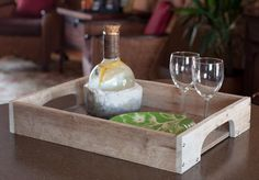 DIY Wood Serving Tray using recycled pallets