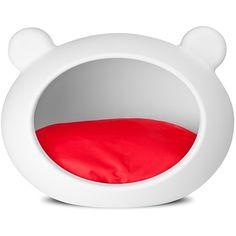 Casinha de Cachorro Dog Cave Guisa Pet - Branco e Vermelho - MeuAmigoPet.com.br #petshop #cachorro #cão #meuamigopet