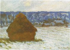 Monet 1890-91, Monton de Heno en dia nevado  - Instituto de Arte de Chicago