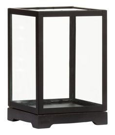 Check this out! Small display case with a frame in metal, sides in clear glass, and a base in antique-finish wood. Size 4 1/4 x 4 1/4 x 6 3/4 in. - Visit hm.com to see more.