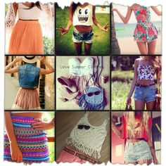 Collage teen clothing summer outfits