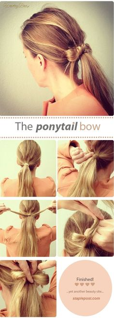 Hairstyle For Girls Step By Step Ponytail Bow