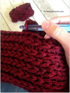 Knit Look Crochet Cowl  – a simple quick project! – The Messy Brunette