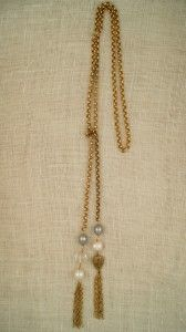 long wrapping necklace with tassels by exvoto vintage jewelry
