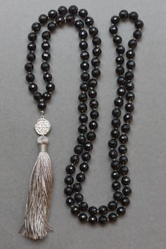 Onyx with Extra Long St Benedict Tassel