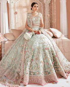 Indian Fashion Dresses, Indian Gowns, Indian Designer Outfits, Designer Dresses, Pakistani Bridal Lehenga, Sabyasachi, Shaadi Lehenga, Walima, Saree