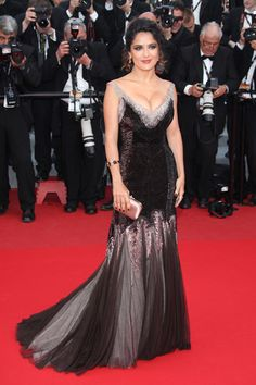 Salma Hayek in Gucci Première at Cannes  Tom & Lorenzo
