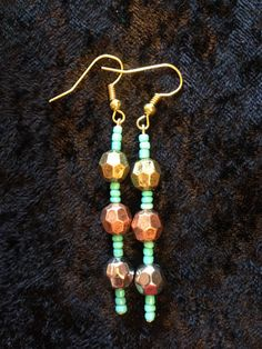 Boho Metal and Turquoise Beads by CraftyOlBats on Etsy