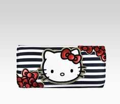 Hello Kitty Long Wallet: Bow + Stripe - This would also go great with my dress!