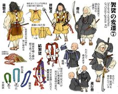 袈裟の変遷(7) 修験者の結袈裟 梵天袈裟 磨紫金袈裟 Samurai, Japanese History, Japanese Art, Japanese Outfits, Japanese Fashion, Japanese Clothing, Drawing Reference, Design Reference, Mens Garb