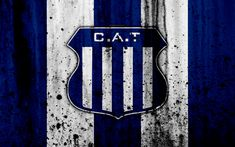 Download wallpapers 4k, FC Talleres, grunge, Superliga, soccer, Argentina, logo, Talleres Cordoba, football club, stone texture, Talleres FC