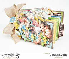 Graphic 45 - Joanne Bain's Childrens Hour Mini Album. So pretty!!! Tutorial on their website.