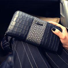Ms. wallet female long section of the new zipper wallet fashion wallet women wallet card hand bag phone package women's purse #wallet #purse #clutch