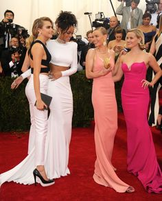 Having a Ball - Cara Delevingne, Rihanna, Kate Bosworth, and Reese Witherspoon-Wmag