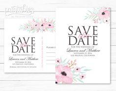 Printable Save the Date Postcard Rustic Save the by PrintablesByTC