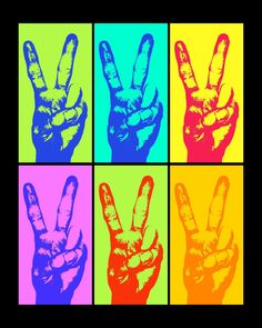 peace andy warhol Andy Warhol: More at FOSTERGINGER @ Pinterest