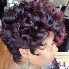 STYLIST FEATURE| Love this curly➰ #pixiecut✂️ done by #PhillyStylist @Ckelly926❤️ Gorgeous color #VoiceOfHair