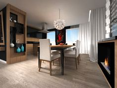 interior visualization of an apartment in Gdańsk