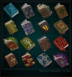 ArtStation - Book Icons III, Sylwia Smerdel