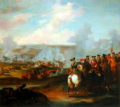 Duke of Marlborough and Prince Eugene of Savoy at the Battle of Blenheim, War of the Spanish Succession