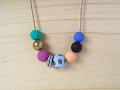 Blue my mind - Handmade polymer clay necklace
