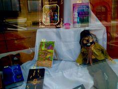 In the Grand River Book Company window. Fiction Books For Kids, Fantasy Fiction, Window, River, Garden, Garten, Windows, Lawn And Garden, Gardens