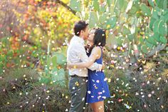 Confetti! // Jordan and Mercy's Engagement Shoot in California #Oak #Canyon #Nature #Center