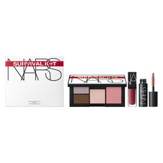 Shop NARS Survival Kit 1 by Nars at MECCA. A collection of makeup essentials for creating a neutral look, features eyeshadow, blush, lipgloss and mascara. Game Face, Makeup Essentials, Mecca, Survival Kit, Lip Gloss, Nars, Mascara, Birthday Gifts, Personal Style