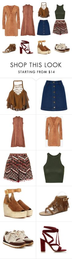 """""""Holiday"""" by gabrielle-tiger-lillie-bowman ❤ liked on Polyvore featuring Balmain, Oasis, Brock Collection, Exclusive for Intermix, Topshop, Chloé, Brunello Cucinelli and Gianvito Rossi"""