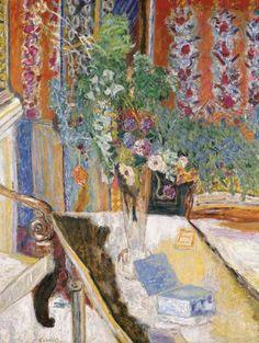 Intérieur avec des fleurs, Pierre Bonnard. French Nabi Painter (1867 - 1947)