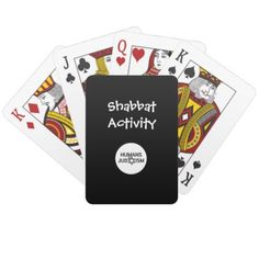 Shabbat Activity Playing Cards - home gifts ideas decor special unique custom individual customized individualized
