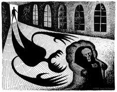 The Tell Tale Heart - Edgar Allen Poe Illustration Edgar Poe, Edgar Allen Poe, Edgar Allan, Grimm Stories, The Tell Tale Heart, Ghost Cartoon, Klimt Art, Creepy Horror, Heart Illustration
