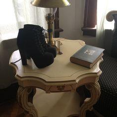"Black Lolita inspired heels Black Jeffrey Campbell ""Lolita"" inspired booties. Brand new worn once around house. Black faux suede with black heel. Shoes Heels"