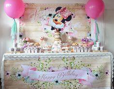 Sweet Table from a Boho Chic Minnie Mouse Birthday Party via Kara's Party Ideas KarasPartyIdeas.com (4)