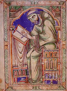 Image result for medieval monk thinking