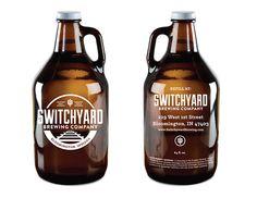 Elyse Myers Design - Indianapolis Graphic Design Switchyard Growler Design #brewerylogo #beer #beerlogo #logo #growler