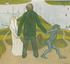 Hugo Simberg - At the Crossroads