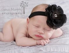 Black Beautiful Couture Baby Headband