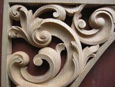 Single Door Design, Filigree Tattoo, Ancient Greek Sculpture, Wood Carving Designs, Scroll Pattern, Ornaments Design, Wooden Art, Wood Sculpture, Canvas Frame