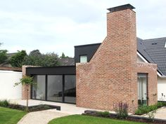 House extension and refurbishment. Brick Architecture, Contemporary Architecture, Architecture Details, Building Extension, Glass Extension, New Staircase, Bungalow House Plans, Bungalow Exterior, Barn Renovation