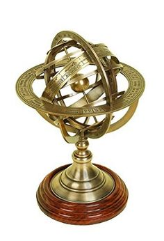 Armillary Brass Globe Nautical Engraved Sphere Tabletop Gift Collectible Decor