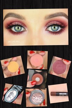 I think I have similar shadows to recreate this look by Jaclyn Hill.