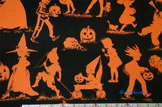 Henry Halloween Lane Toile Orange from Haunted House line